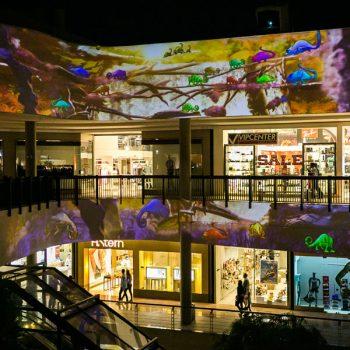 projeto Floresta Galleria projeção mapeada Galleria Shopping Campinas crianças