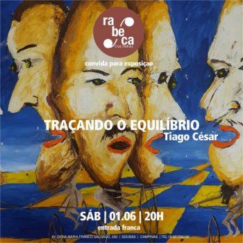 """Exposição: """"Traçando o Equilíbrio"""" reúne obras do artista Tiago César na Rabeca Cultural"""